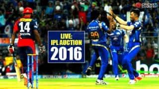 IPL 2016 Auction Live Updates & Blog: Shane Watson costliest player in IPL 9 auction; teams finalised