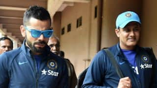 ICC Champions Trophy 2017: Anil Kumble gives Virat Kohli throwdowns during practice session