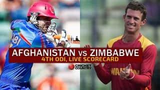 Live Cricket Scorecard: Afghanistan vs Zimbabwe 2015-16, 4th ODI at Sharjah