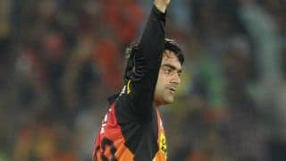 Rashid Khan becomes 3rd spinner to bowl most dot balls in an IPL match; joins Ravichandran Ashwin, Amit Mishra