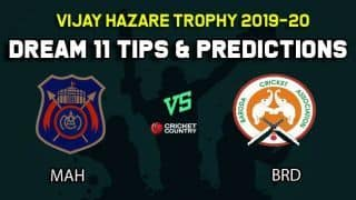 Dream11 Team Maharashtra vs Baroda, Round 4, Elite Group B Vijay Hazare Trophy 2019 VHT ODD – Cricket Prediction Tips For Today's Match MAH vs BRD at Vadodara