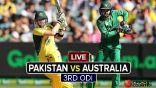 Live Cricket Score Pakistan vs Australia, 3rd ODI at Perth: Sharjeel falls after a brisk 50