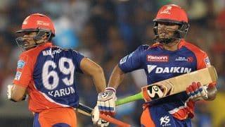 IPL 2017:Kings XI Punjab need 68 runs to win against Delhi Daredevils