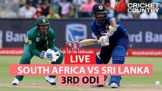 Live Cricket Score, SA vs SL, 3rd ODI at Johannesburg; SA win by 7 wickets; take 3-0 lead
