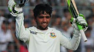 Haque's century takes Bangladesh to 234 for 3 at tea