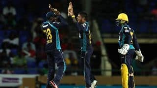 Lamichhane, Duminy star in Barbados Tridents' first win of CPL 2019