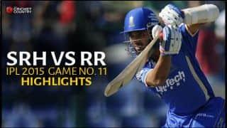 Sunrisers Hyderabad vs Rajasthan Royals, IPL 2015: Dhawal Kulkarni's burst, Ajinkya Rahane's half-century and other highlights