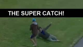 VIDEO: Super catch by cricket fan wins him 5000 NZD