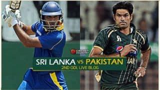 Live cricket score, Sri Lanka vs Pakistan 2015, 2nd ODI at Pallekele SL 288/8 in 48.1 Overs: SL level series 1-1