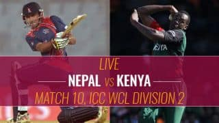 Live Cricket Score, Nepal vs Kenya, ICC World Cricket League Division 2, Match 10: Nepal 5 down