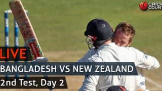 Live Cricket Score, BAN vs NZ, 2nd Test, Day 2: