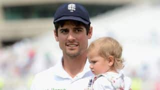 Rare photo: England captain Alastair Cook with his daughter after Ashes 2015 win