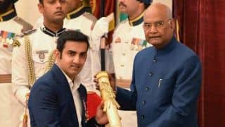 Gautam Gambhir thanks fans, critics after receiving Padma Shri