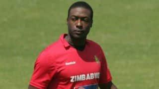 Vusi Sibanda dismissed for 2 in India vs Zimbabwe 2015, 2nd ODI at Harare