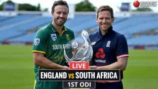Live Cricket Score, ENG vs SA, 1st ODI at Leeds, 2017: Root, Hales consolidate