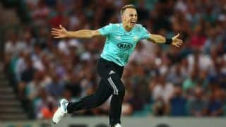 Vitality T20 Blast: Tom Curran hat-trick sees Glamorgan bowled out for record low of 44