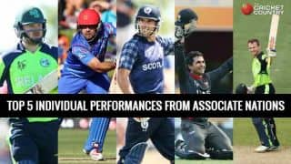 Top 5 individual performances from the Associate nations