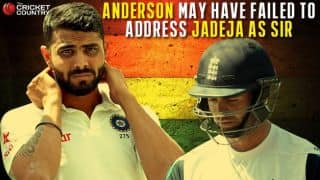 "James Anderson may have failed to address Ravindra Jadeja as ""Sir"""