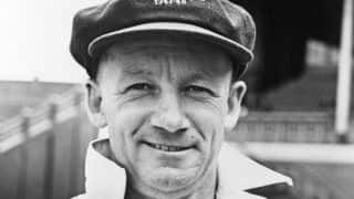 Don Bradman recovers from near-fatal illness to construct his fastest hundred in Sheffield Shield