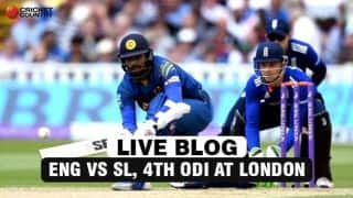 ENG 309/4 in 40.1 (42) overs   | Live Cricket Score, ENG vs SL, 4th ODI at London: ENG beat SL by 6 wickets