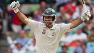 Ponting plays a mammoth innings of 257 against India at Melbourne in 2003-04