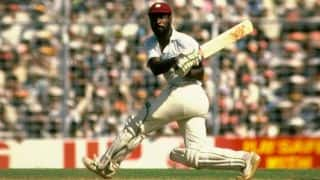 Viv Richards smashes England to smithereens with a 56-ball hundred at Antigua in 1985-86