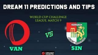 VAN vs SIN Dream11 Team Vanautu vs SINGAPORE, Match 9, World Cup Challenge League – Cricket Prediction Tips For Today's Match VAN vs SIN at Kuala Lumpur