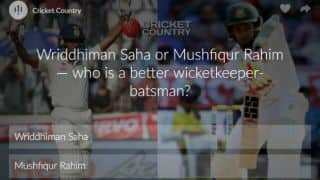 Poll: Wriddhiman Saha or Mushfiqur Rahim — who is a better wicketkeeper-batsman?