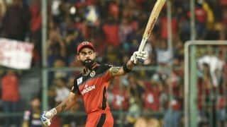 IPL 2019: Virat Kohli hits 5th century in IPL, RCB set 214 target for KKR