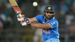 Rohit Sharma dismissed for 42 by Dushmantha Chameera against Sri Lanka in 2nd T20I at Ranchi