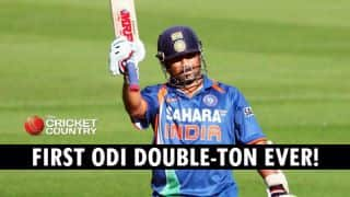 Video: Sachin Tendulkar scores first ever 200 in ODIs