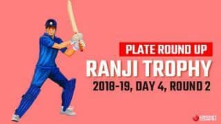 Ranji Trophy 2018-19, Plate, Round 2, Day 4: Arunachal bag three points vs Mizoram