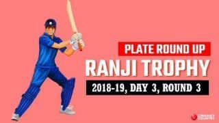 Ranji Trophy 2018-19, Plate, Round 3, Day 3: Nagaland fightback, but Meghalaya in control