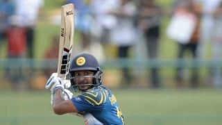 New Zealand vs Sri Lanka 2014-15: Kumar Sangakkara dismissed for four by Adam Milne