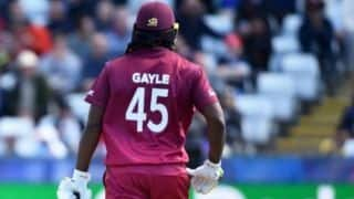 No Test comeback for Chris Gayle; final international appearance will instead be against India in 3rd ODI