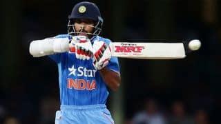 Shikhar Dhawan dismissed for 26 by Shane Watson in 3rd T20I against Australia
