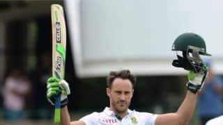 केपटाउन टेस्ट: फाफ डु प्लेसिस के 9वें टेस्ट शतक से दक्षिण अफ्रीका मजबूत