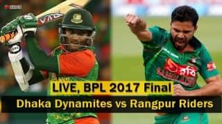 Live Cricket Score, BPL 2017, Final, Dhaka Dynamites vs Rangpur Riders; Riders win their maiden BPL title