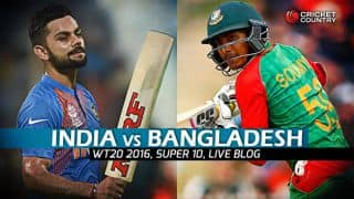 BAN 145/9 in 20 overs | Live Cricket Score India vs Bangladesh, ICC T20 World Cup 2016 IND vs BAN, 25th T20 Match at Bengaluru: IND win by 1 run