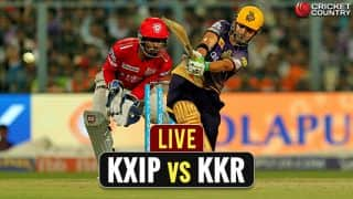 Live IPL 2017 Scores, KXIP vs KKR, IPL 10, match 49: KXIP win by 14 runs; keep playoffs hopes alive