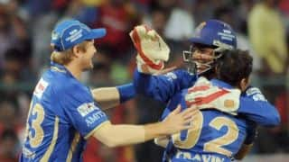 Rajasthan Royals vs Sunrisers Hyderabad, Live Cricket Score, IPL 2015 Match 41 at Mumbai