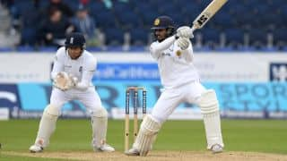 Sri Lanka take into Lunch 403 for 6, lead by 6 runs against England
