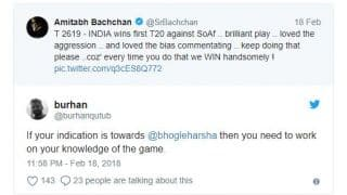 "Twitteratti criticise Amitabh Bachchan over his tweet on ""biased"" commentating"