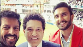 In Photos: Sachin Tendulkar meets Ranveer Singh, Kabir Khan in London