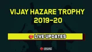LIVE UDPATES: Vijay Hazare Trophy 2019-20, Round 2