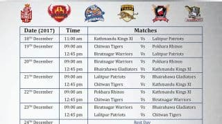 Everest Premier League 2017: Full schedule, match dates and timings