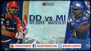 Live Cricket Score, DD vs MI, IPL 2015, Match 21 at New Delhi, MI 153/9 after 20 overs: DD win by 37 runs