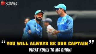 Virat Kohli to MS Dhoni: 'You will always be our captain'