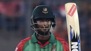 Shakib Al Hasan run out for 3 by Suresh Raina against India in 1st T20I at Asia Cup T20 2016