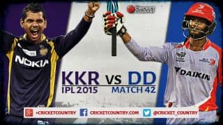 Live Cricket Score KKR vs DD, IPL 2015 Match 42 at Kolkata: KKR win by 13 runs